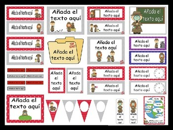 Detective Calendar and Classroom Decorations {Spanish Version} EDITABLE!