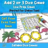 Editable Dice Games - Flamingo 5 In-A-Row