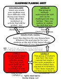 Editable Differentiated Activity Sheet