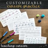 Editable Differentiated Cursive Paper