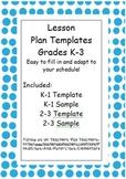 Editable Differentiated Lesson Plan Template Kindergarten