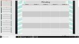 Editable Digital Center Chart Teal Chevron (Watercolor)