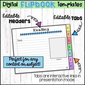 Editable Digital Flipbook - Google Slides Templates by Sherri Miller