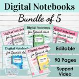 Editable Digital Interactive Notebook Templates | Bundle