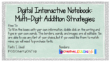 Editable Digital Interactive Notebook Template: Multi-Digit Addition Strategies