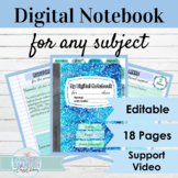 Editable Digital Interactive Notebook Template | FOR ANY CLASS