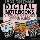 Editable Digital Notebooks (Google Slides)
