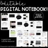Editable Digital Notebooks   Google Slides
