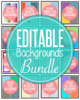 Editable Digital Paper Backgrounds Bundle