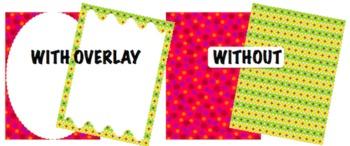 Editable Digital Paper Bundle - All 4 Sets - Pick your own colors!