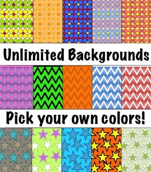 Editable Digital Paper - Set 2  -  Pick your own colors!