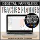 Editable Digital Teacher Planner and Binder - Marble Theme