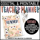 Editable Digital Teacher Planner and Binder - Pretty Pastels Theme