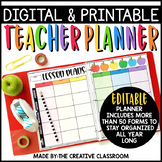 Editable Digital Teacher Planner and Binder - Rainbow Apples Theme