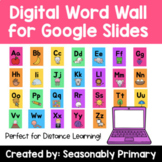 Editable Digital Word Wall for Google Drive   Bright and C