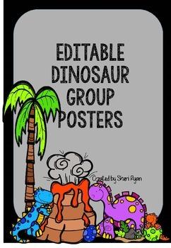 Editable Dinosaur Group Posters