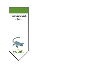 Editable Dinosaurs Bookmarks
