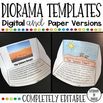 photograph about Printable Diorama called Diorama Task Templates (Editable - Printable - Electronic)