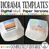 Diorama Project Templates   Editable   Digital   Distance Learning