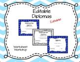 Editable Diplomas