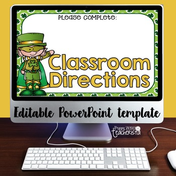 Editable Directions for Classroom Management