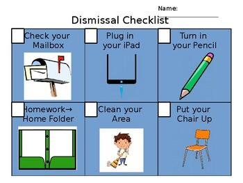 Editable Dismissal Checklist