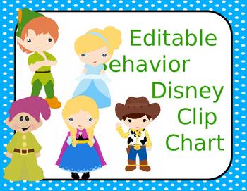 Editable Disney Behavior Management Clip Chart