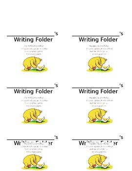Editable-Disney inspired Writing Folder Labels