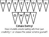 Editable Display Bunting - Plain Triangle