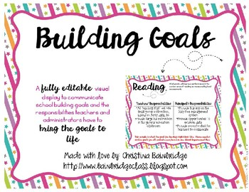 Editable Display for Building-Wide Goals or Classroooms