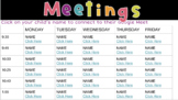 Editable Distance Learning Meeting Schedule