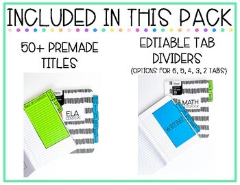 Editable Divider Tabs