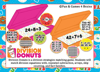 Editable Division Donuts Game - Practice division strategies with this fun game.