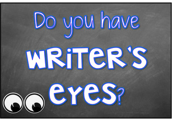 Editable Do You Have Writer's Eyes {Writing Editing Poster Display}
