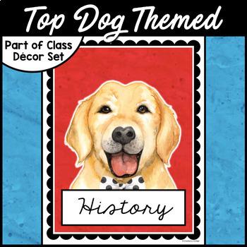 Editable Binder Covers - Dog Classroom Decor
