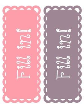 Editable Classroom Doily Labels!