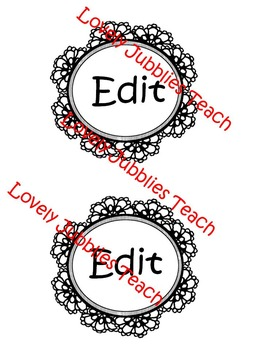 Editable Doily Labels (Round)