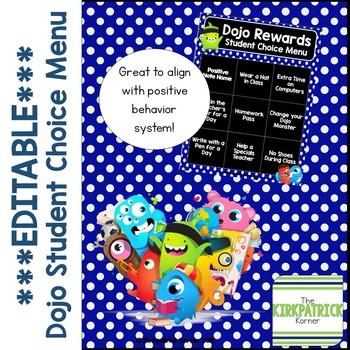 Editable Dojo Rewards Choice Menu