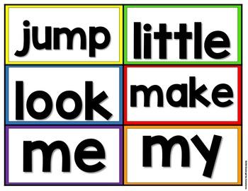 Editable Dolch Pre-Primer & Primer Word Wall-Circus Theme