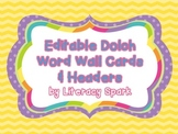 Dolch Word Wall Mix & Match- Chevron & Polka Dots {Editable}