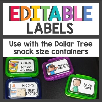 Editable Dollar Tree Snack Size Labels