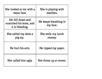 Don't Squeal Tattle vs. Tell Activity Sheet