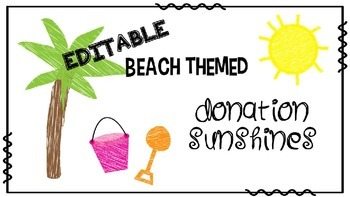 Editable Donation Requests- Beach Themed