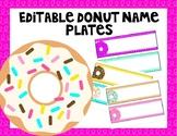 Editable Donut Name Plates