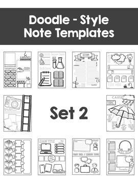 Editable Doodle Note Templates BUNDLE
