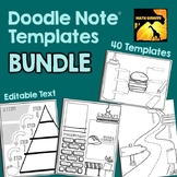 Editable Doodle Note Templates BUNDLE
