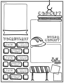 editable doodle note templates set 2 by math giraffe tpt