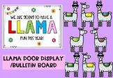 Editable Door Display/Bulletin Board (Llamas)