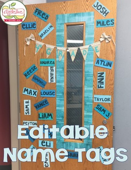 FREE Editable Door Name Tags for the Classroom