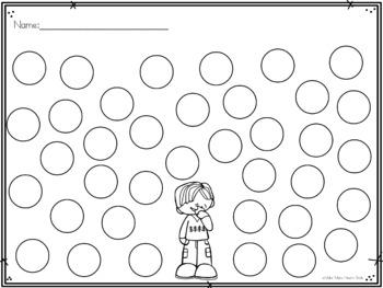 Editable Dot a Circle: Apples